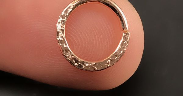 Dainty Septum Ring Solid Gold Septum Septum24G-14K Real Gold Septum Ring-White-Pink Beads Septum Hoop Pierced Septum Ring