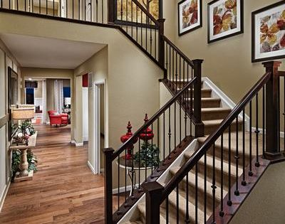 Choose from five distinctive floor plans including a Ranch style staircase