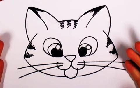 Learn How To Draw This Super Cute Kitten By Cheri Crawford At Drawingteachers Com Cat Face Drawing Kitten Drawing Simple Face Drawing