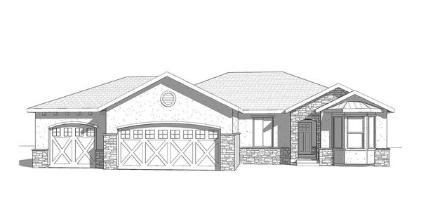 Springs - A traditional style rambler house plan - Walker Home Design ...