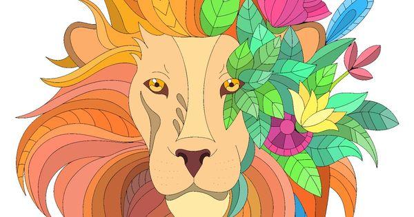 Chromatic Lion Colorful Art African American Art Art