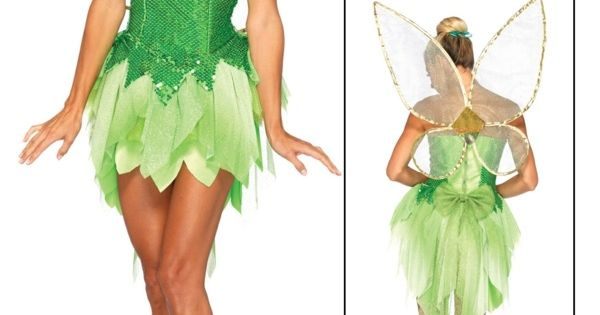 tinkerbell kost m fee frauen fl gel gr nes kleid fasching pinterest kost m fee tinkerbell. Black Bedroom Furniture Sets. Home Design Ideas