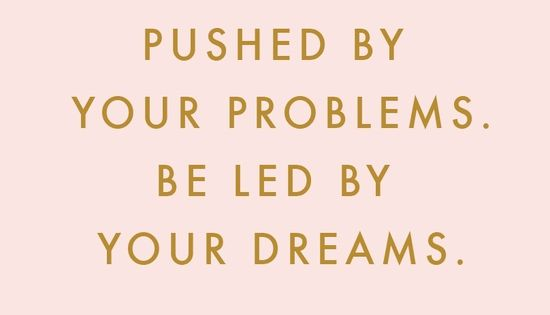 Don't let your problems push you too far, stay focused on your