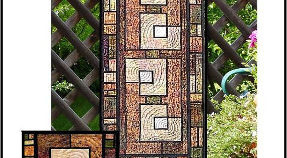 Garden trellis table runner and placemats pdf by for Garden trellis designs quilt patterns
