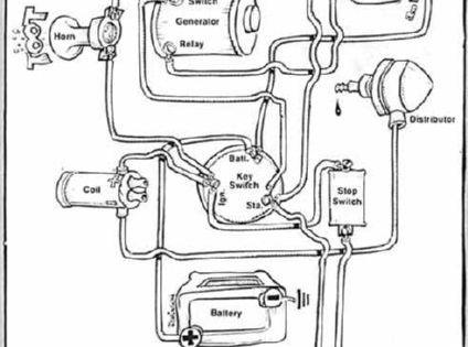 Image result for SIMPLE HARLEY CHOPPER GENERATOR 6V wiring ... on