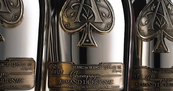 Exclusive champagne armand de brignac design bottle and for Jay z liquor price