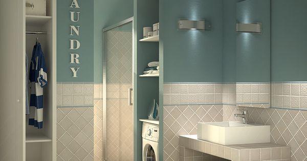 Bagno lavanderia con guardaroba una soluzione per la for Lavatoio lavanderia leroy merlin