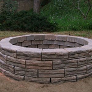 How To Build A Fire Pit Above Ground Fire Pit Outdoor Fire