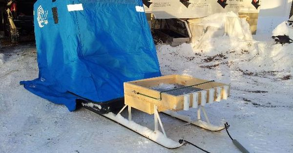 Armslist for sale clam 1 man ice fishing shanty sled for Clam fish houses