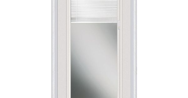 Milliken Millwork 37 5 In X In Internal Mini Blinds Clear Glass Full Lite Primed White
