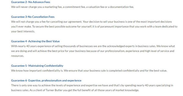 Sellingmybusiness We Will Not Charge You A Fee For Cancelling Our