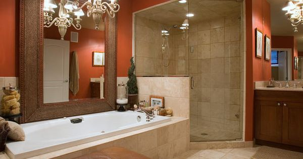 Bathroom, The Amazing Bathroom Design Idea Also Big Long Tub Also Pendnat