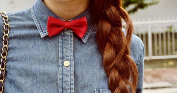 bow tie braid hair