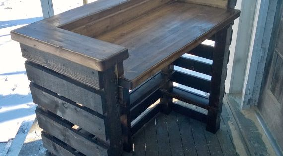 rustic pallet bar unit reclaimed wood by sauerbroscabinetry adega pinterest paletten bar. Black Bedroom Furniture Sets. Home Design Ideas
