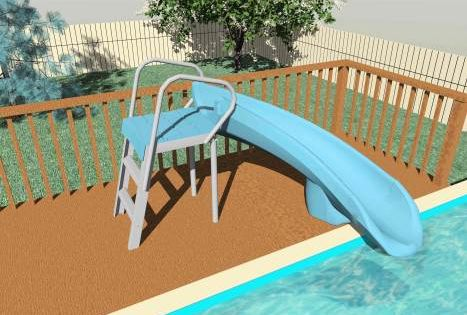 Diy above ground pool slide interior design for Above ground pool buying guide