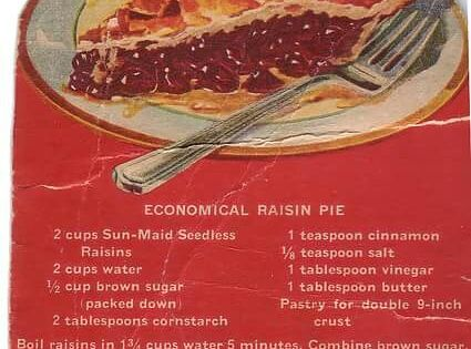 Economical Raisin Pie Vintage Recipes Raisin Pie Vintage Recipes Recipes