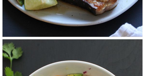 Grilled Swordfish with Smoked Paprika and Herbed Fruit Salsa | Recipe ...