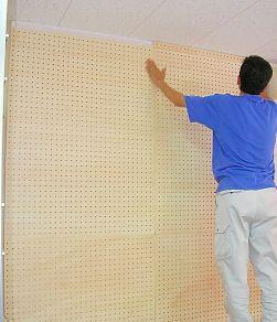 有孔ボードを使った簡易防音壁の作り方 防音 有孔ボード 有効