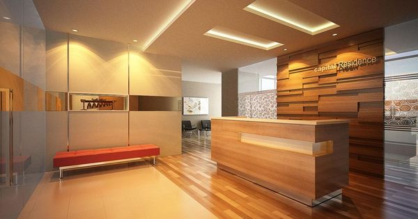 Modern Office Lobby Design With Architectural And Unique