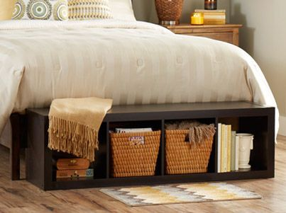 Lay Our 4 Cube Organizer At The Foot Of Your Bed For An Easy To Reach Storage Bench Ikea Decor S Home Decor Home Foot Of Bed