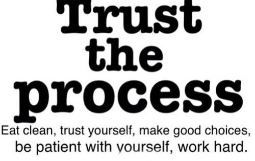 Trust The Process Quote Instagram Fitness Quotes Workout Quotes Healthy