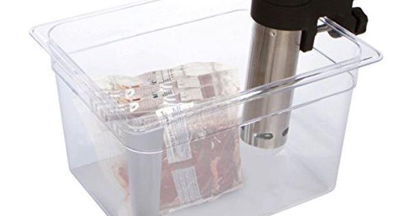 Sous Vide Container 12 Quart For Anova Nomiku Sansaire Polyscience Immersion Circulator And Sous Vide Controller Amazon Sale Immersion Circulator Polycarbonate