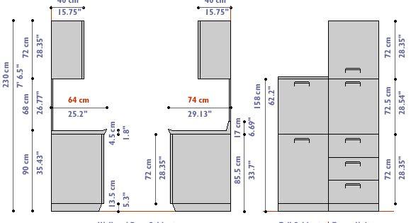 chic kitchen cabinet depth cm ergonomics measurements