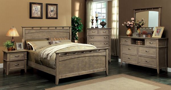transitional style bedroom furniture 5 pc loxley collection transitional style weathered oak 17571