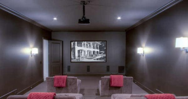 media room. I m thinking red wall sconces(like in the theaters) and shelves for collectables and ...