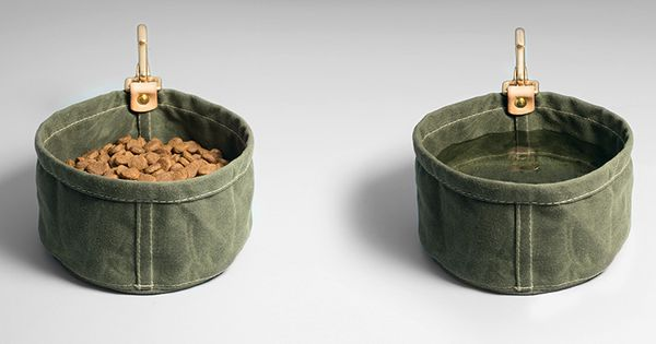Waxed canvas, Dog bowls and Canvases on Pinterest