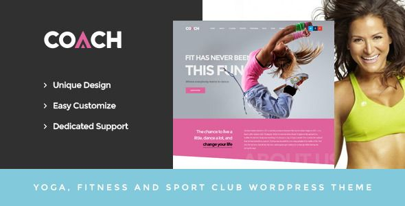 Coach Sport Clubs Fitness Centers Courses Wordpress Theme By Opal Wp Theme Overviewwith A Creative And Modern De Sports Coach Sports Clubs Wordpress Theme
