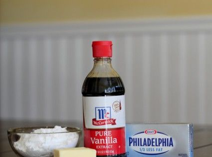 Perfect Cream Cheese Frosting Ingredients: 2 8-oz. packages cream cheese (light works