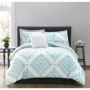 Jericho 5 Piece King Comforter Set Features A Trendy Geometric