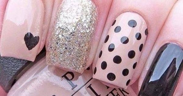 nail design in pink, diseño de uñas en rosa