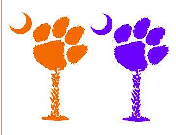 Clemson University Tiger Paw South Carolina Paw Stencil Clemson Paw Clemson Paw Stencil