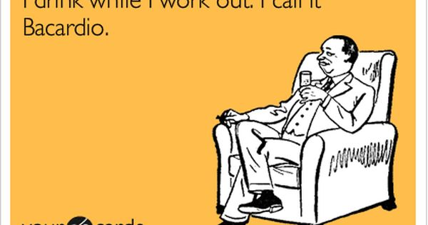 Funny Quotes for Moms - Drinking and Working Out