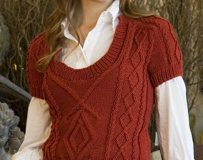 Unicorn Knitting Books : Unicorn pattern short sleeve cable vest complimentary
