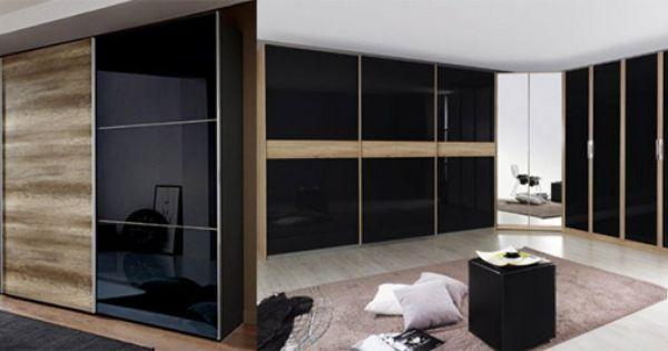 Lovely Kleiderschrank schwarz Begehbarer u mit Schwebet ren und Spiegel Magazine Design Pinterest Design