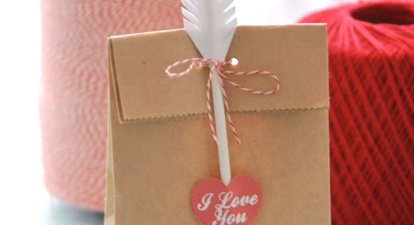 Valentines day treat bag or gift bag idea