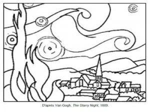 71 Coloriages D œuvres D Artistes Peintres A Imprimer Art Jeunes Enfants Cours D Art Coloriage