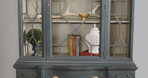 China Cabinet Painted With Annie Sloan Chalk Paint In