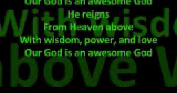 Petra Awesome God With Images Christian Rock God Lyrics