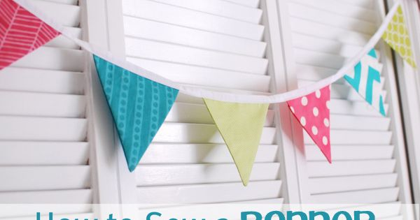 fabric Easter banner