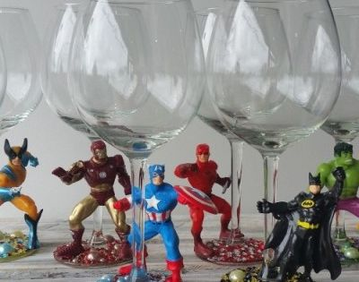 Amazing Superheroe Wine Glasses Projects Pinterest