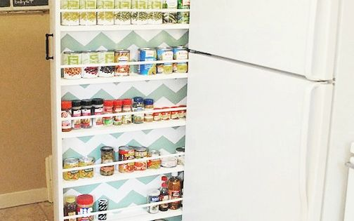 Classy Clutter pull out can cupboard, Budget Friendly Kitchen Storage Ideas DIY