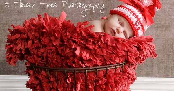 Newborn picture idea- valentines day