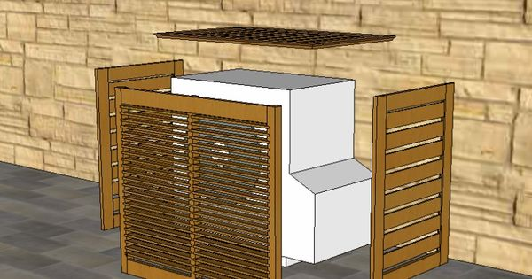 realisation un cache pour moteur ext de clim terrasse pinterest ext rieur cacher. Black Bedroom Furniture Sets. Home Design Ideas