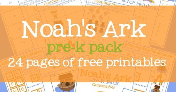 Free Noah s Ark Preschool Printable