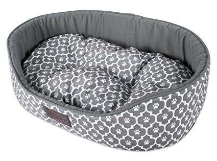 Petface Deli Dog Bed Reversible Bamboo Fleece Cushion Oval Pet Bed Machine Washable Cover Non Slip Backing Jumbo Cord A Hayvanlar Hayvanlar Alemi Ale