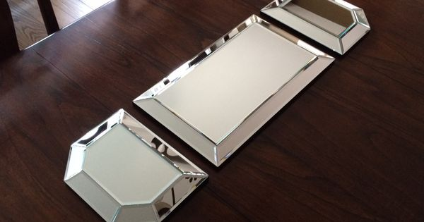 Create A Dramatic Centerpiece Using These Beveled Mirror